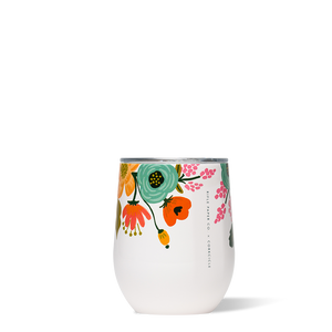 Corkcicle Rifle Paper Co. Stemless 12oz Cup - Lively Floral Cream SURF WORLD