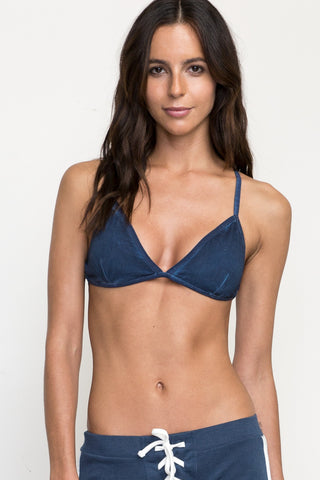 RVCA Crossing Strappy Bralette - Dark Denim - SURF WORLD Florida