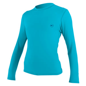 O'Neill Women's Basic L/S Sunshirt - Turq 5090 SURF WORLD