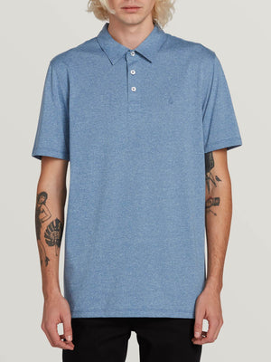 Volcom Wowzer Polo Mens Polo T Shirt -Blue Rinse SURF WORLD