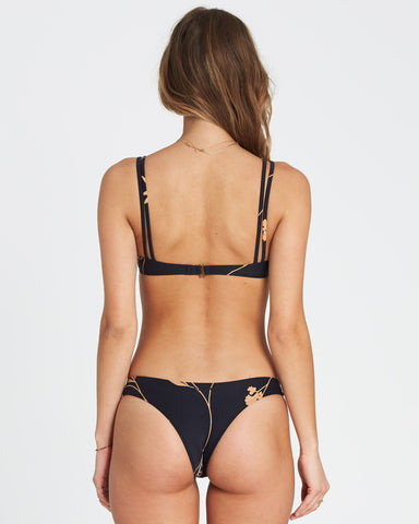 Billabong Sweet Roots Isla Bikini Bottom Black Pebble