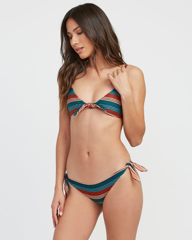 RVCA Frame Striped Know Bikini Top - Multi