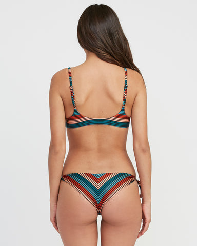 RVCA  Frame Striped Cheeky Bikini Bottom - Multi