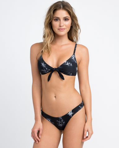 RVCA Danger Beach Knot Bikini Top - Black