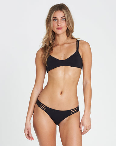Billabong Sol Searcher Crossback Bikini Top Black Pepple