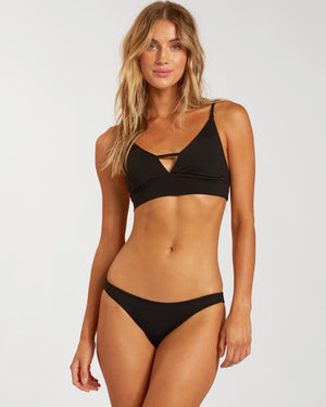 Billabong Sol Searcher V Neck Cami Bikini Top - Black