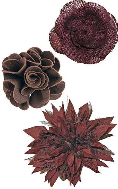 Women's Hat Trims Collection of Flowers | Handmade in Seattle WA | Pandemonium Millinery