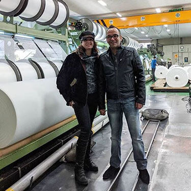 Leigh & Mike at our Korean Manufacturer