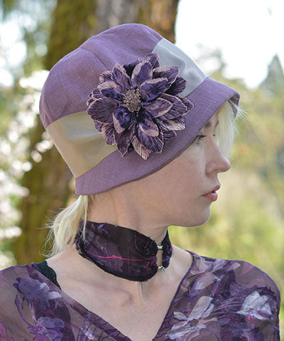 Women's Garden Path Wrist Scarf in Azalea as Choker | Handmade in Seattle WA | Pandemonium Millinery