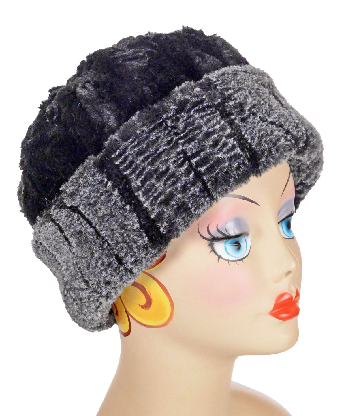 Beanie Hat, Reversible - Luxury Faux Fur in Rattlesnake Ridge (Limited Availability)