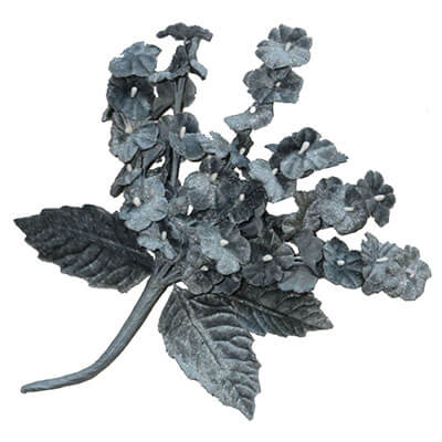 Flower Brooch Small Velvet Cluster in Gray | Pandemonium Millinery