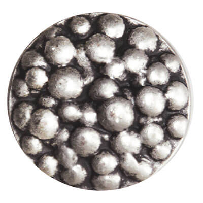 Button with Metal Bubbles in Nickle | Pandemonium Millinery