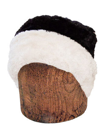 Men's Cuffed Pillbox, Reversible (Two-Tone) - Cuddly Faux Fur Combos