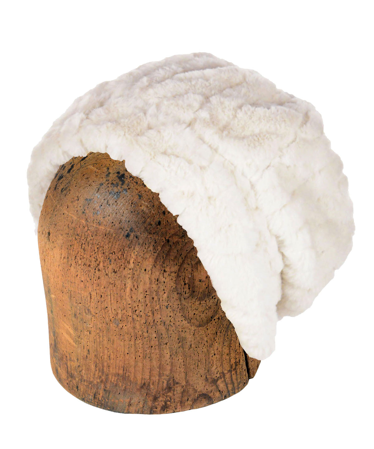 Men's Beanie Hat, Reversible - Luxury Faux Fur in Marshmallow Twist (Limited Availability)