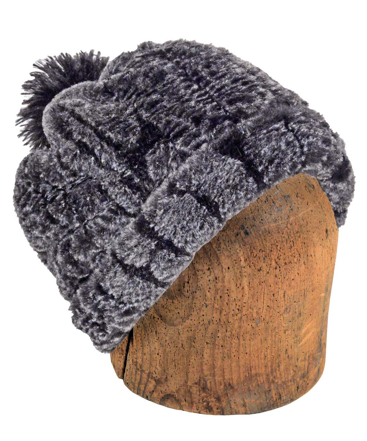 Men's Beanie Hat, Reversible - Luxury Faux Fur in Rattlesnake Ridge (Only Larges Left!)