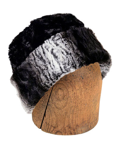 Men's Beanie Hat, Reversible - Luxury Faux Fur in Smouldering Sequoia