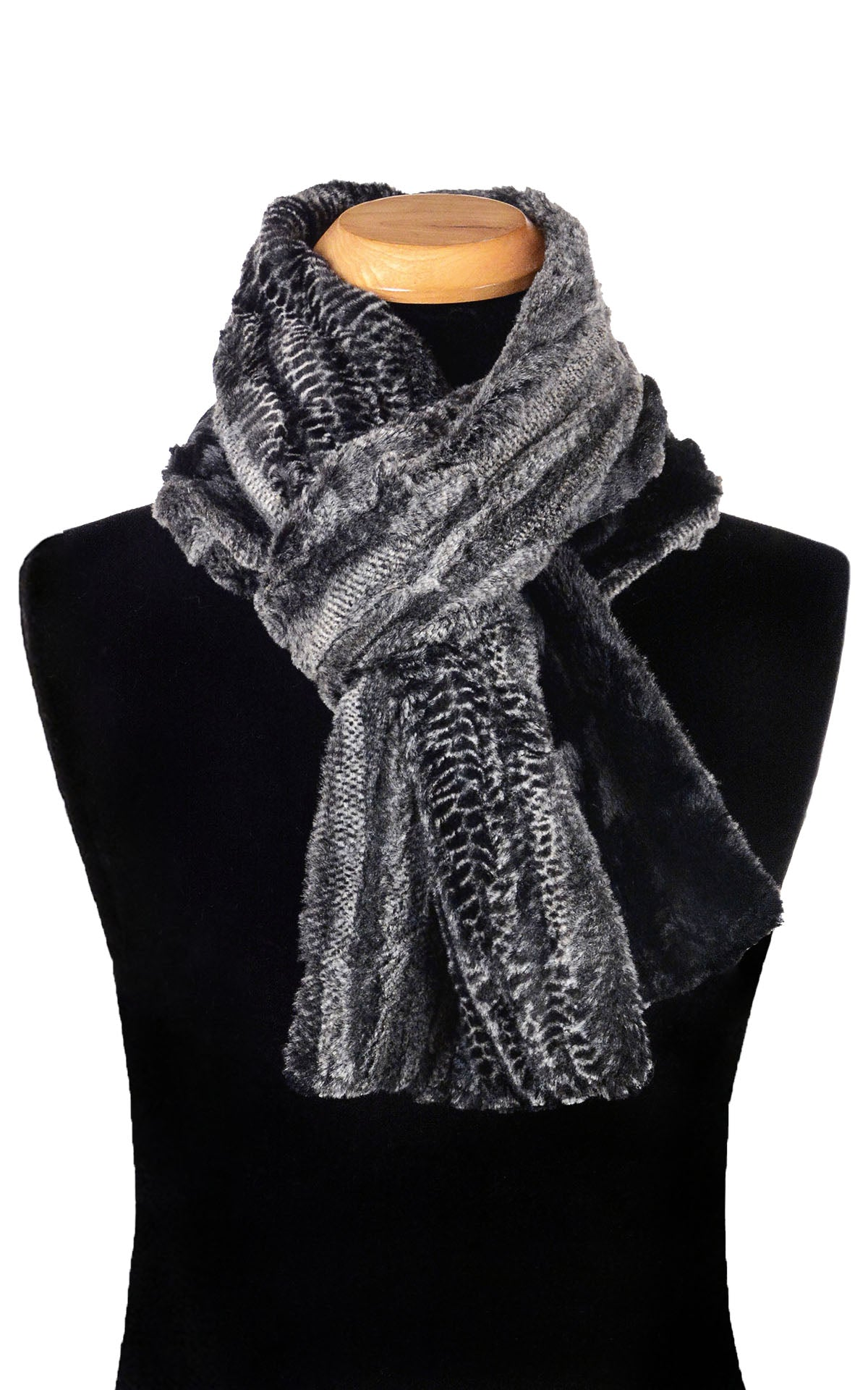 Men's Classic Scarf - Two-Tone, Luxury Faux Fur in Rattle N Shake