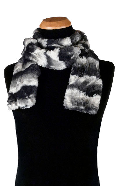 Men's Classic Scarf - Luxury Faux Fur in Ocean Mist