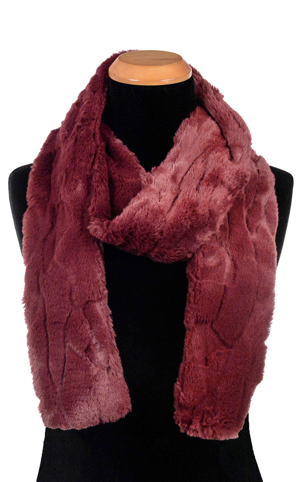 Men's Classic Scarf - Luxury Faux Fur in Cranberry Creek