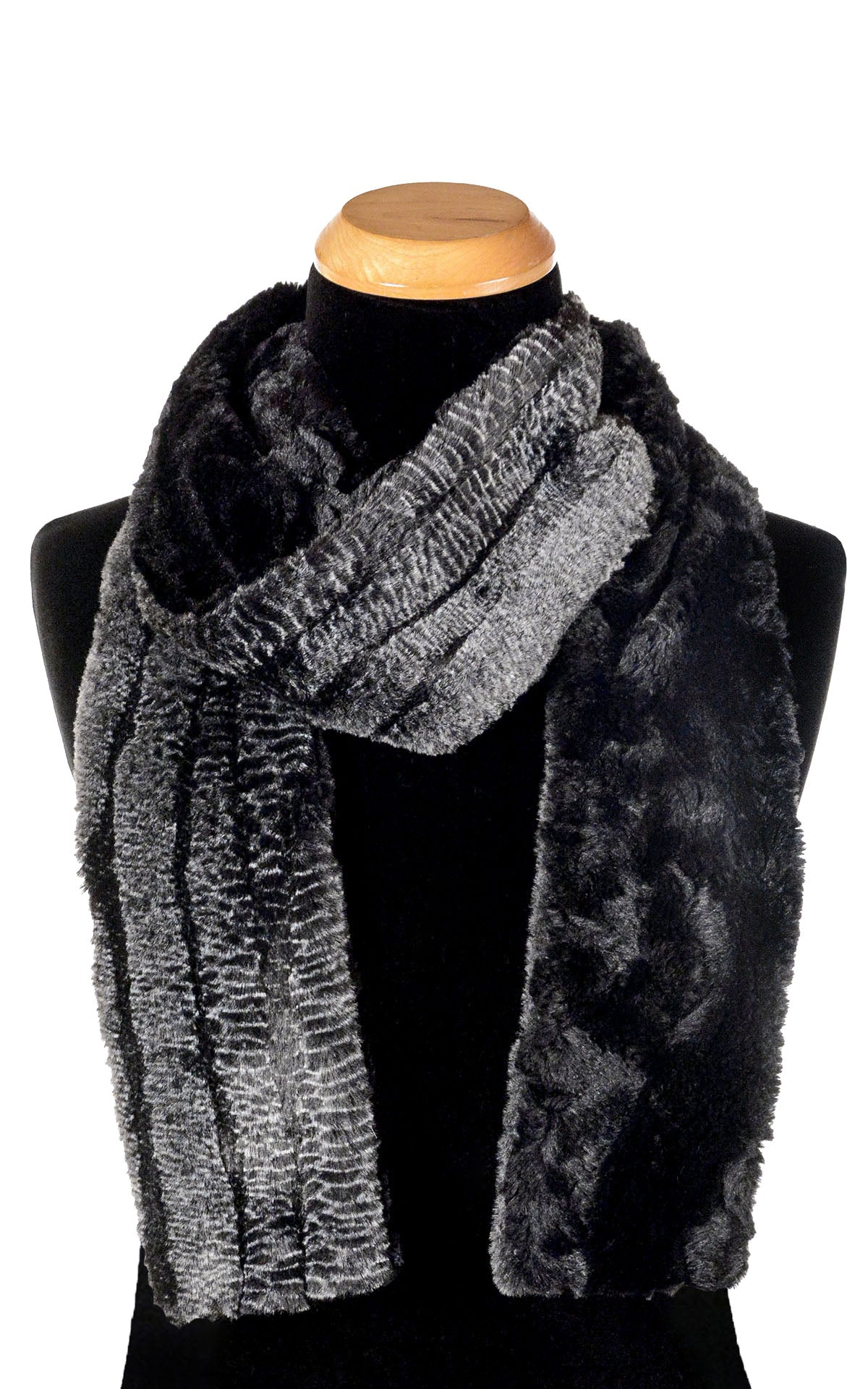 Men's Classic Scarf - Two-Tone, Luxury Faux Fur in Rattlesnake Ridge (Limited Availability)