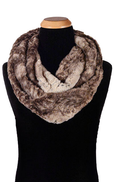 Men's Infinity Scarf - Luxury Faux Fur in Fawn