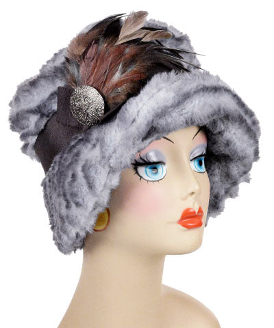 Molly Hat Style - Plush Faux Fur in Devon Rex (Only One Medium Left!)