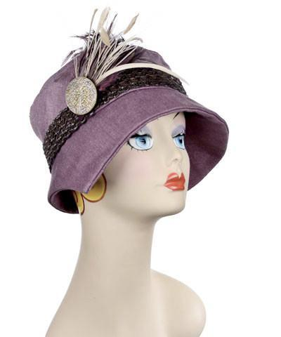Abigail Hat Style  - Linen in Plum Medium / Hat Only Hats Pandemonium Millinery
