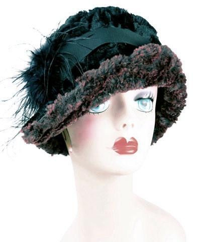 Abigail Style Hat - Desert Sand Faux Fur in Midnight