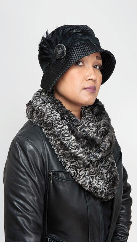 Abigail Style Hat - Interconnected in Black Upholstery