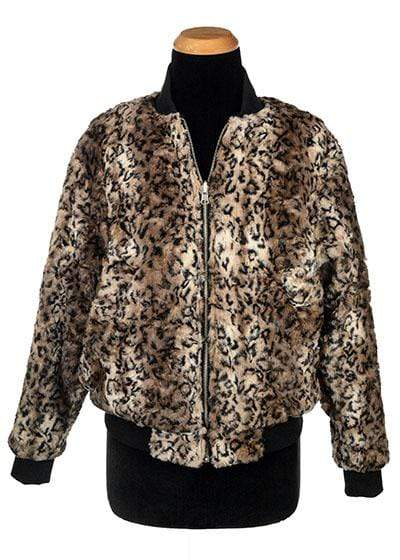 Pandemonium Millinery Amelia Bomber Jacket - Luxury Faux Fur in Carpathian Lynx with Cuddly Fur Outerwear