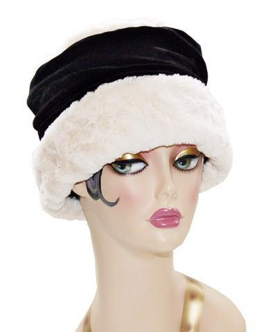 Ana Cloche Hat Style - Cuddly Faux Fur in Ivory