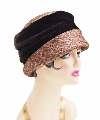 Ana Cloche Hat Style - Liam in Brown Upholstery Medium / Hat Only Hats Pandemonium Millinery
