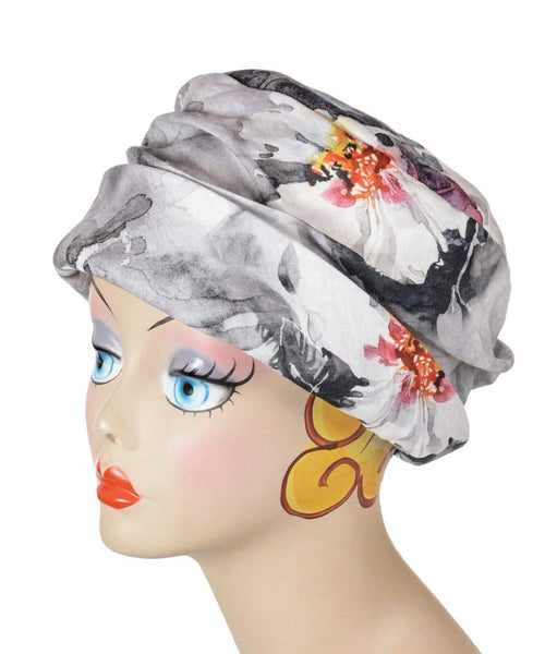 Pandemonium Millinery Ana Cloche Hat Style - Linen in Multi-Floral Medium / Hat Only Hats