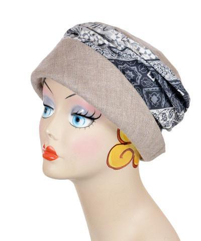 Ana Cloche Hat Style - Linen in Natural with English Tea Medium / Hat Only Hats Pandemonium Millinery