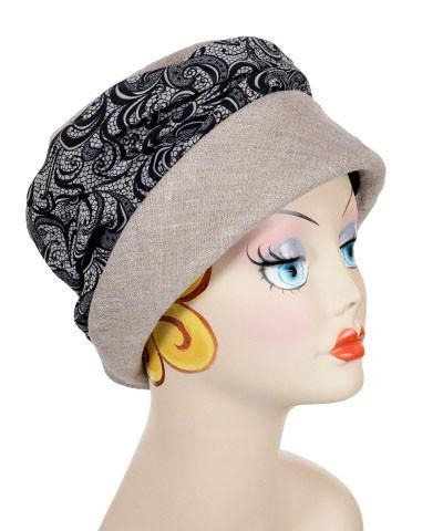 Ana Cloche Hat Style - Linen in Natural with Venetian Medium / Hat Only Hats Pandemonium Millinery