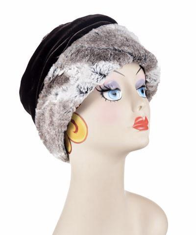 Ana Cloche Hat Style - Luxury Faux Fur in Birch Medium / Hat Only Hats Pandemonium Millinery
