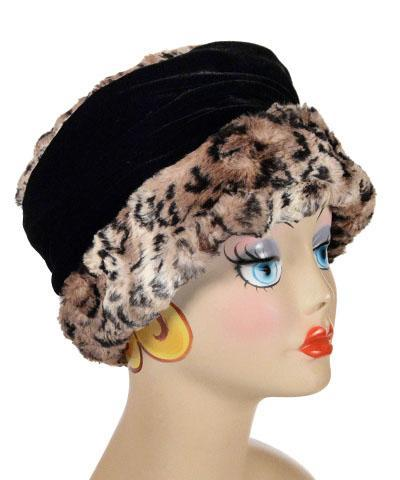 Ana Cloche Hat Style - Luxury Faux Fur in Carpathian Lynx Medium / Hat Only Hats Pandemonium Millinery