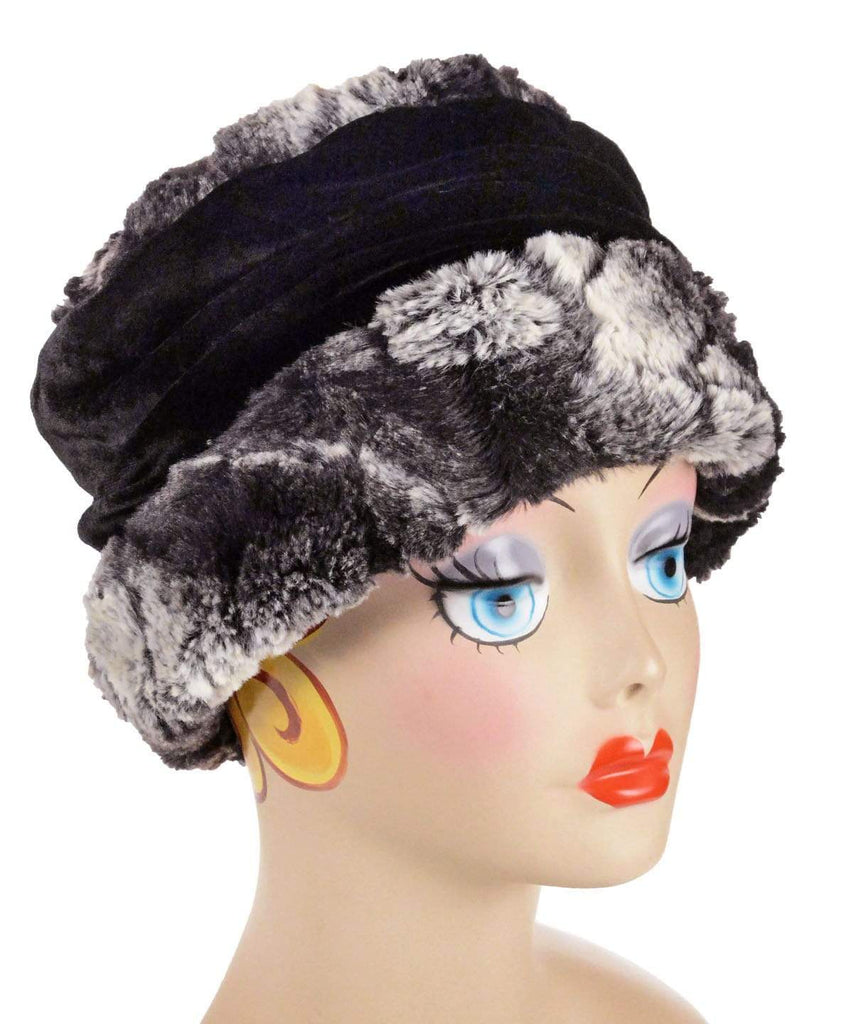 Pandemonium Millinery Ana Cloche Hat Style - Luxury Faux Fur in Honey Badger Medium / Hat Only Hats