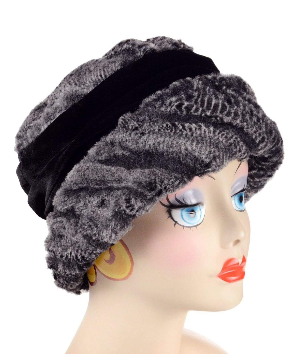 Ana Cloche Hat Style - Luxury Faux Fur in Rattle N Shake