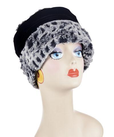 Ana Cloche Hat Style - Luxury Faux Fur in Snow Owl