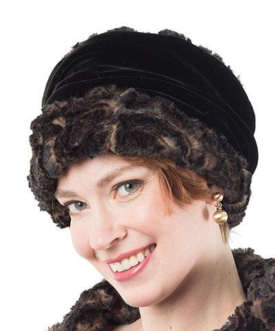 Ana Cloche Hat Style - Luxury Faux Fur in Vintage Rose Medium / Hat Only Hats Pandemonium Millinery