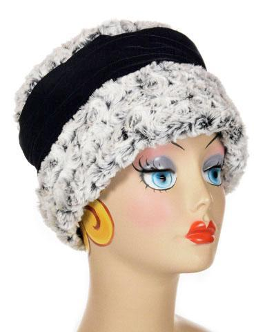 Ana Cloche Hat Style - Rosebud Black Faux Fur