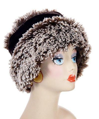 Ana Cloche Hat Style - Silver Tipped Fox Faux Fur in Brown Medium / Hat Only Hats Pandemonium Millinery