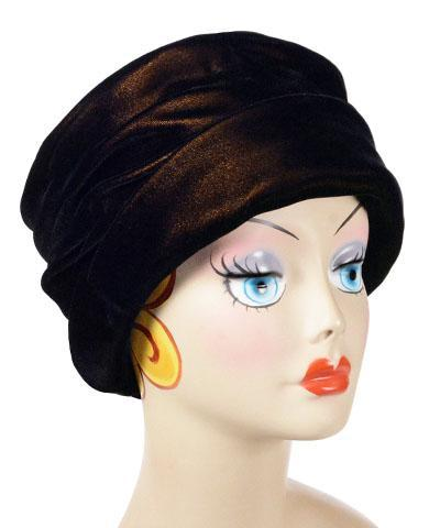 Ana Cloche Hat Style - Velvet in Black Gold Medium / Hat Only Hats Pandemonium Millinery