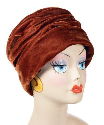 Ana Cloche Hat Style - Velvet in Citrine, Solid Medium / Hat Only Hats Pandemonium Millinery