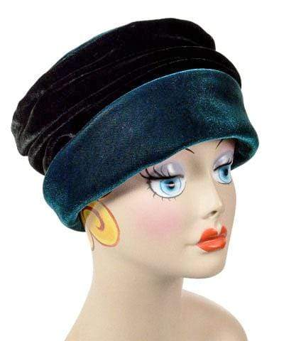 Ana Cloche Hat Style - Velvet in Emerald Medium / Hat Only Hats Pandemonium Millinery