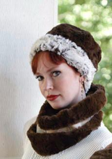 Beanie Hat, Reversible - Luxury Faux Fur in Stratus (Silver Stratus - SOLD OUT) Medium / Sienna Stratus Hats Pandemonium Millinery