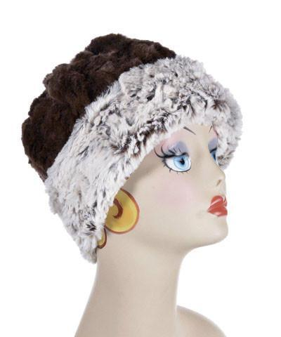 Beanie Hat, Reversible - Luxury Faux Fur in Sienna Stratus (Only Larges Left!)