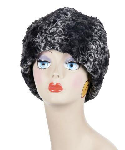 Beanie Hat, Reversible - Luxury Faux Fur in Smoky Essence (LIMITED QUANTITY)