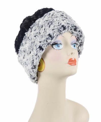 Beanie Hat, Reversible - Rosebud Faux Fur